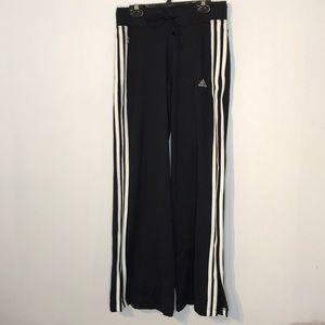 Adidas straight wide leg three stripes pant